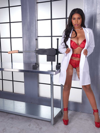 Hot Ebony Babe Jenna J Foxx Strips Off Her Sexy Red Lingerie