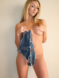 Brooke Marks In Tiny Jeans Shorts