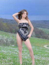 Nude Teen posing nude