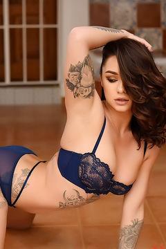 Mica Martinez Blue Lingerie