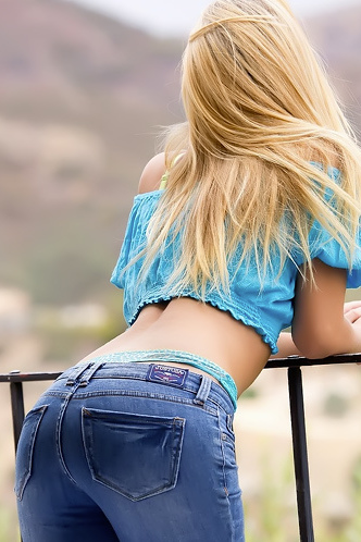 Natalia Starr Tiny Blue Top