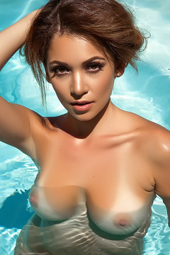 Ali Rose Naked In The Pool
